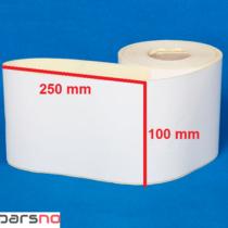 لیبل کاغذی 100 × 250
