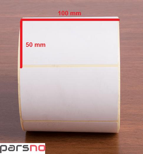 لیبل کاغذی 50 × 100