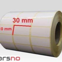 لیبل کاغذی 10 × 30