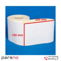 لیبل کاغذی 100 × 200