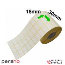 لیبل کاغذی 18 × 30