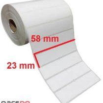 لیبل کاغذی 23 × 58