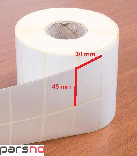 لیبل کاغذی 30 × 45