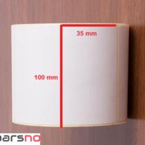 لیبل کاغذی 35 × 100