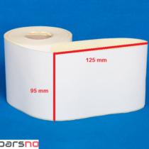 لیبل کاغذی 95 × 125