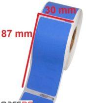 لیبل رنگی آبی پی وی سی 30 ×87