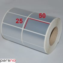 لیبل متال 25 × 50 برچسب ضدآب silver نقره ای