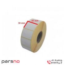 لیبل کاغذی تک ردیف 30 × 45