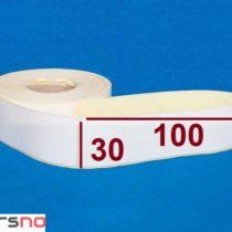 لیبل پی وی سی 30 × 100