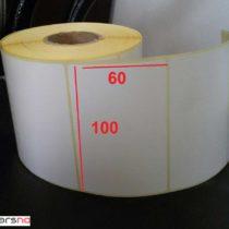 لیبل کاغذی 60 × 100