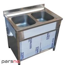 سینک ظرفشویی 2 لگن کابین دار