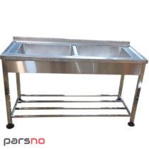 سینک ظرفشویی 2 لگن 150 سانت